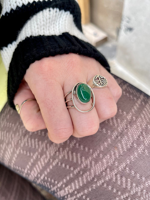 Fill that Empty Space Malachite Ring