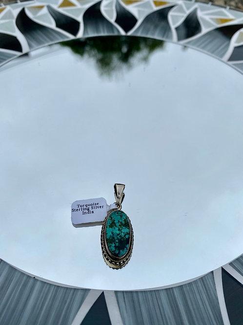 Turquoise Detailed Setting Pendant