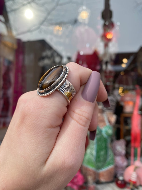 Keep Shining Tiger Eye Ring