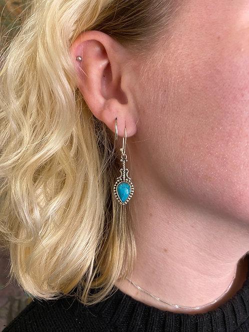 Turquoise Tibetan Earring