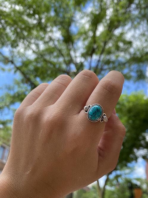 Turquoise Tibetan-Style Ring