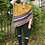 Thumbnail: Buttoned Collar Fringe Poncho - Mustard