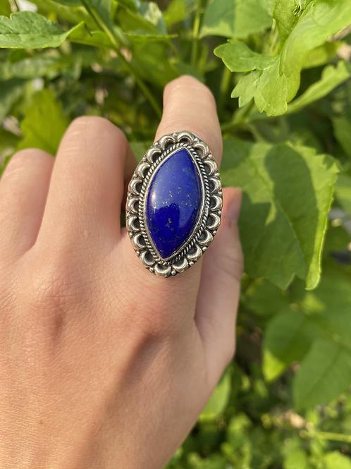 Lapis Lazuli Burst Ring