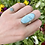 Thumbnail: Oval of Opulence Larimar Ring