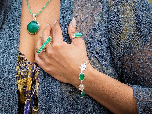 Elephant Green Onyx Bracelet