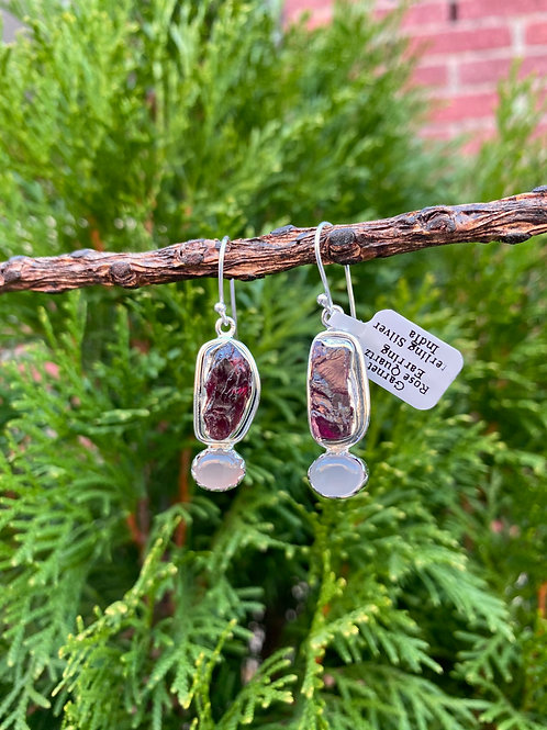 Raw and Polished Stone Earrings