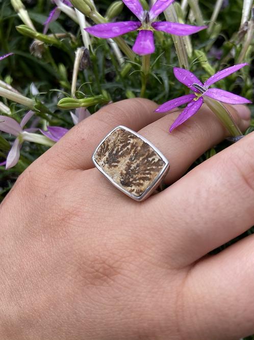 Scribed Dendritic Sandstone Ring