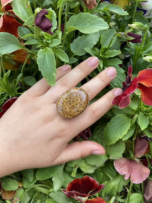 Antique Fossil Coral Ring