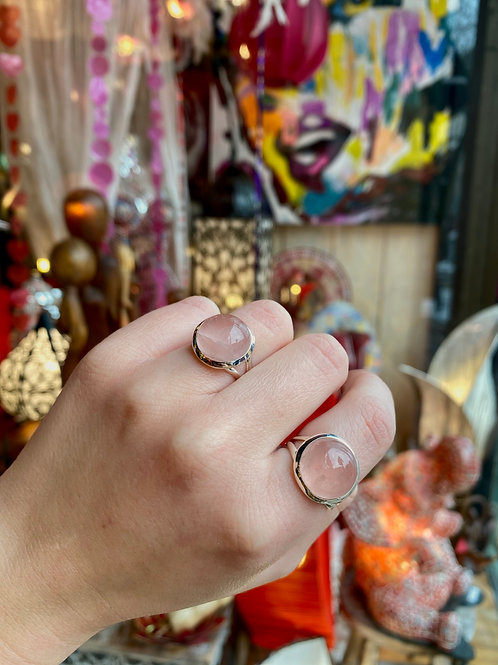 Hemisphere Rose Quartz Ring