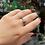 Thumbnail: Raw Diamond Single Stone Silver Ring
