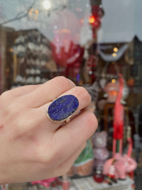 Two Faced Lapis Lazuli Ring