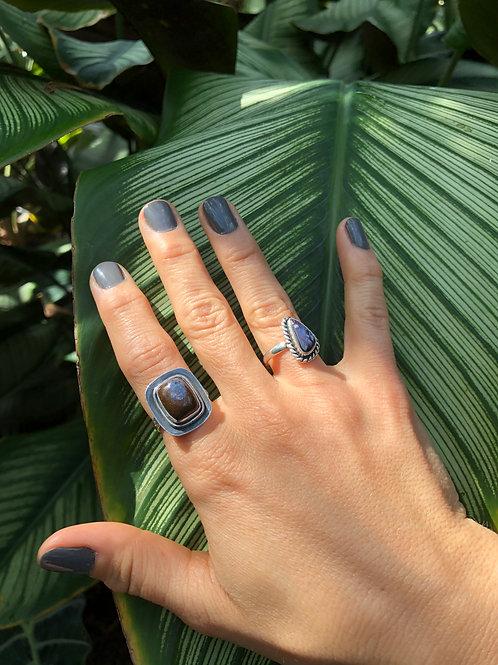Triangular Opal Ring