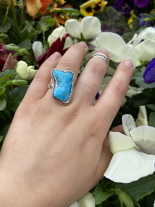 Raw Boot Turquoise Ring