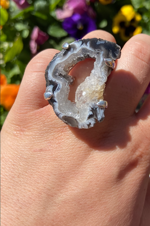 Sensational Druze Agate Ring