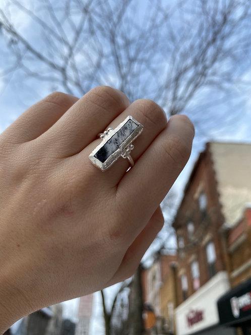 Dendritic Opal Framed Ring
