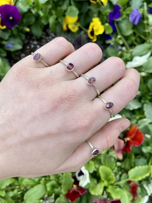 Drops of Jelly Garnet Rings