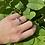 Thumbnail: Tri-Stone Amethyst Ring