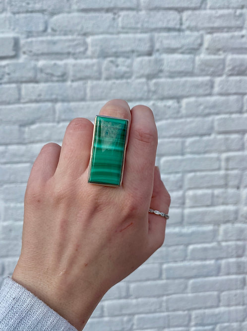 Striking Malachite Ring