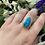Thumbnail: Raw Turquoise Pear Ring