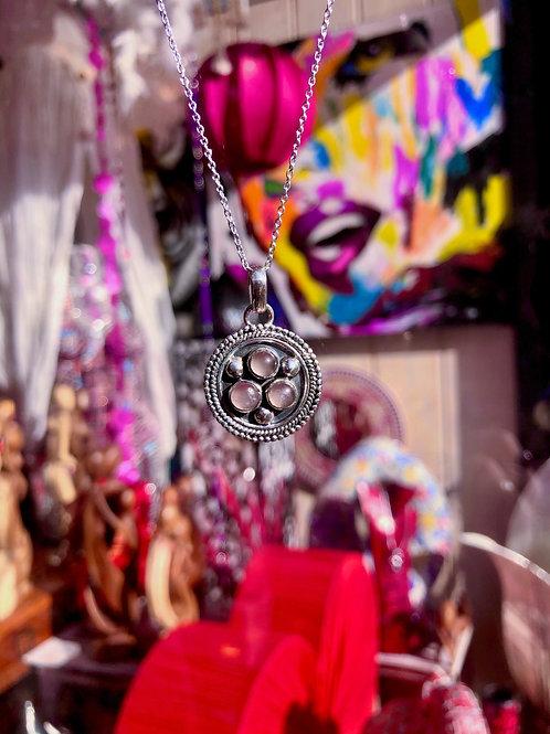 Shield of Love, Rose Quartz Pendant