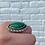 Thumbnail: Bordered Marquise Malachite Ring
