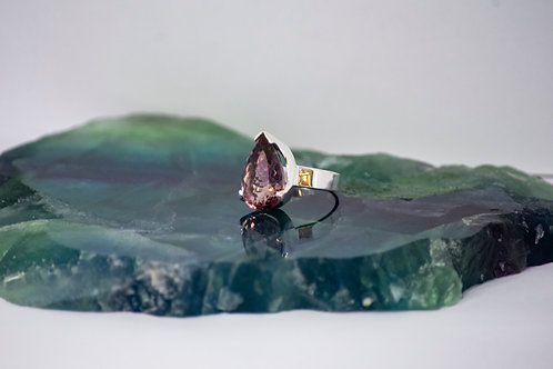 Faceted Ametrine Ring
