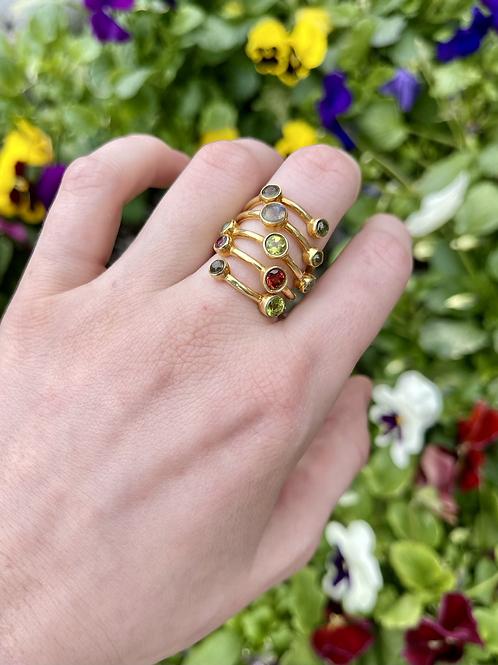 Golden Gate of Gems Ring
