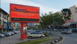 Screen Outside of Queensbay Mall (Pe
