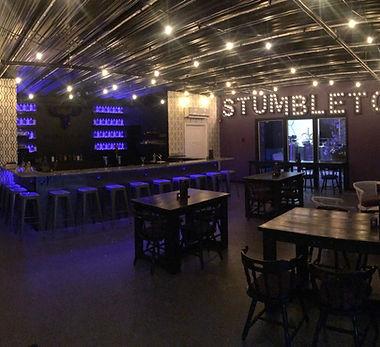 Stumbletown Distilling Event Space Bar Interior