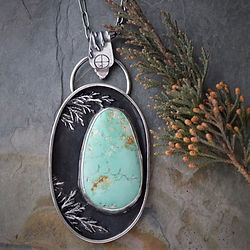 Royston Turquoise and Sterling Cedar Branch Shadow Box Necklace.jpg