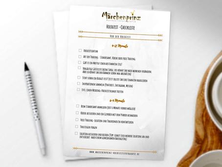 Eine Checkliste für Eure perfekte Hochzeitsplanung