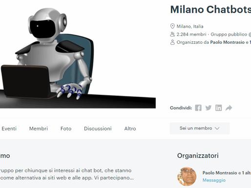 """""""Milano Chatbots Meetup"""" - Video della presentazione di Andrea Forni"""