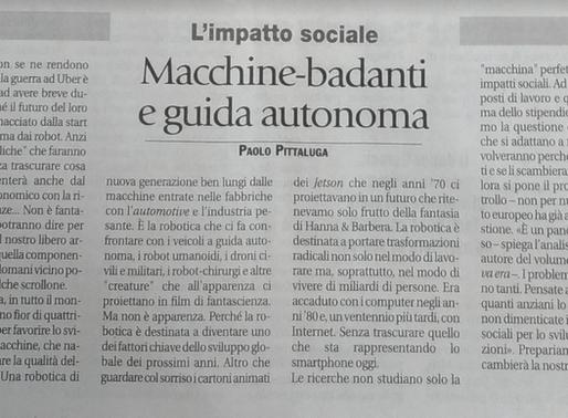 """""""Investire in robotica e AI"""" - intervista al quotidiano Avvenire"""