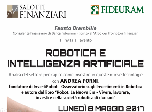 Salotti Finanziari at Fideuram Bank hosts Andrea Forni on how to invest in Robotics and AI - storyte