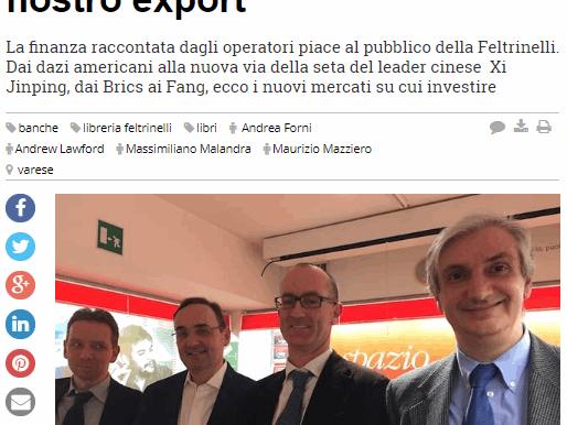 L'Alta Finanza in Feltrinelli Varese - Forni, Malandra, Mazziero, Lawford