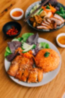 Classic Crispy Chicken with Tomato Rice.