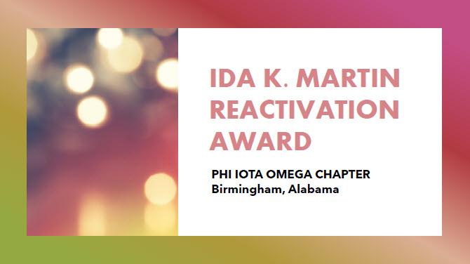 Reactivation Award