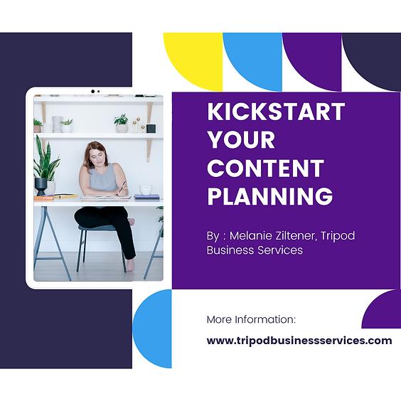 Kickstart Your Content Planning