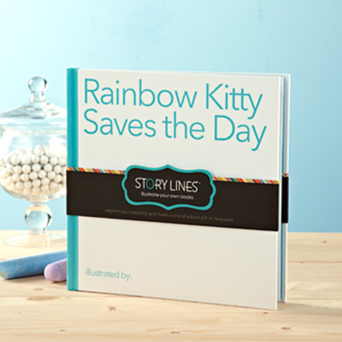 Rainbow Kitty Saves The Day - Illustrate Your Own Story