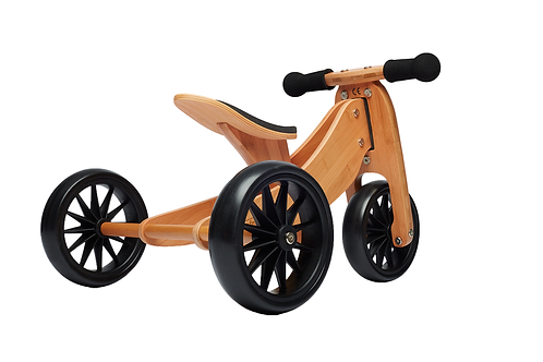 Kinderfeets Tiny Tot Bamboo 2-in-1 Trike & Balance Bike