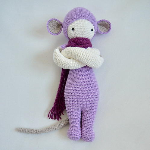 Ecofriendly toys, lalylala crochet front, Rada the Rat, unique children's gifts, shop toys and games