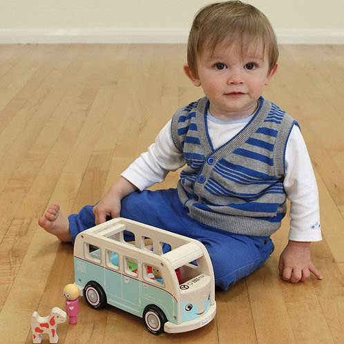 Indigo Jamm Colin's Camper Van, Best Wooden Toy, Toddler Gift