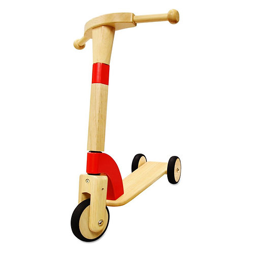 Debut Wooden Scooter Red I'm Toy