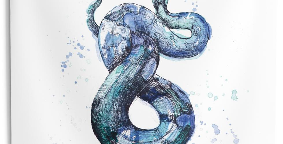 Snake Familiar Tapestry