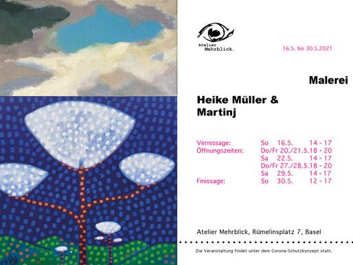 Endlich: Ausstellung im Atelier Mehrblick, Basel!