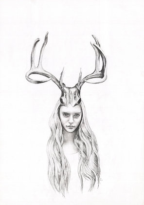 Goddess I Kindred Spirit Series (Graphite on paper)