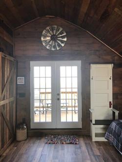 Front door, inside view