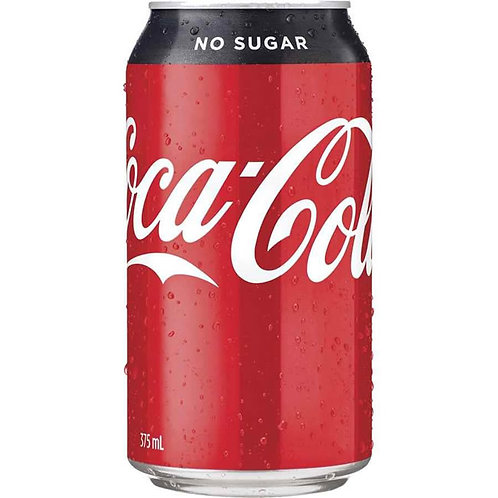 COCA COLA No Sugar 375ml 24 cans