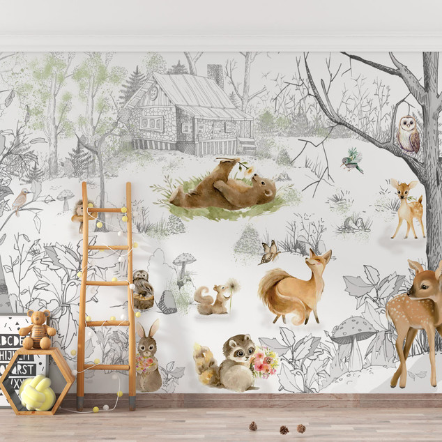 Mural Happy Forest