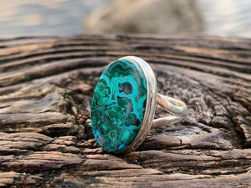 Chrysocolla & Malachite Ring